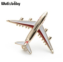 Alloy Airplane Brooch Pins Enamel Red Blue Plane Luxury Brand Brooches For Women Men Costumes Aircraft Brooch