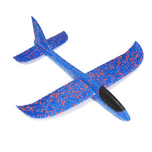 New Baby Kids Blue EPP Foam Handmade Throwing Flying Aircraft Airplane Glider Educational Creative Children Puzzle Model Toys