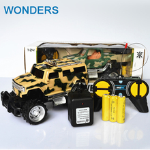 High Speed 4CH 1:24 Electric RC SUV Cars Radio Controlled Toys Boys Gifts with charger and recharge batteries(China)