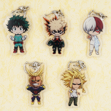 My Hero Academia Anime Boku no Hero Academia Midoriya Bakugou Katsuki TODOROKI SHOTO All Might Japanese Acrylic Keychain(China)