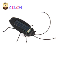 Kids Solar Toys Power Energy Solar Cockroach 6 Legs Black Children Insect Bug Teaching Fun Gadget Toy For Kids (Retail Package)