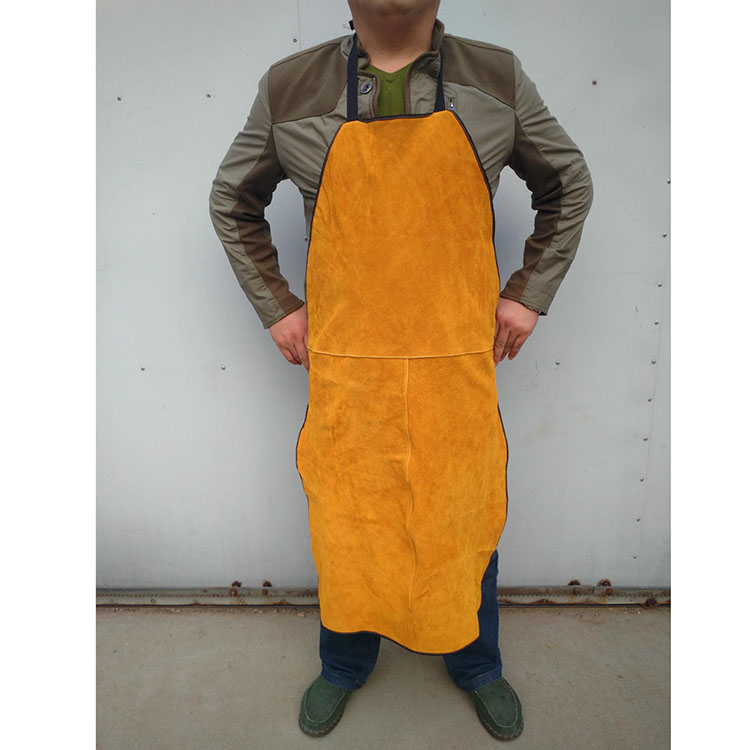 Welder Apron Welding Clothing Work Safety Gear Fire Flame Resistant Orange