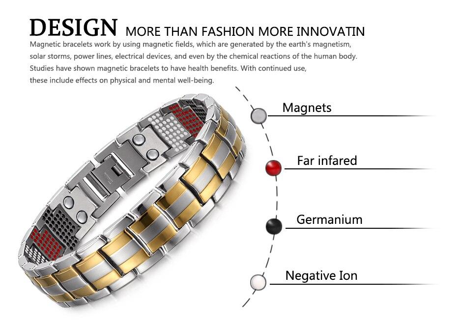 silver gold Titanium Bracelets (5)