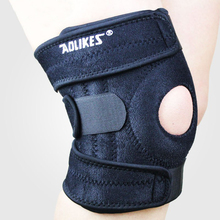 Adjustable Sports Knee Pads Football Basketball Volleyball Leg Knee Support Brace Patella Guard Protector Pads 4 Spring Support(China)