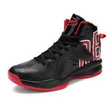 Mangobox 2017 Men Basketball Shoes High Top Sport Shoes for Man Black Red Mens Basketball Sneaker Quality Male Shoes Basketball