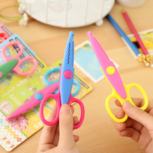 1pcs lace DIY Scissors Scrapbook Paper Photo Tools Diary Decoration Safety Scissors 6 Styles Selection