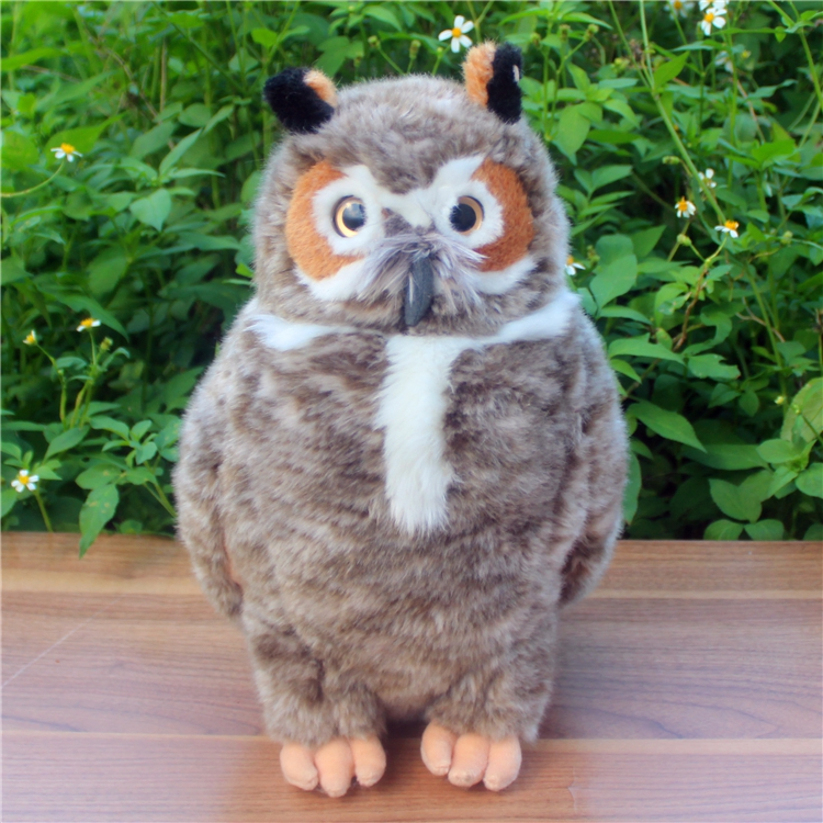 Plush  Owl Doll Toys For Children America Carved Owl Simulation Wild Animals Big Toy Gifts Home Furnishings<br>