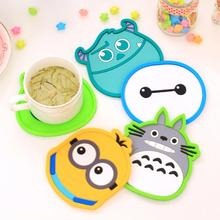 1 Piece New Lytwtw's Dining Table Placemat Coaster Kitchen Accessories Silicone Mat Cup Bar Mug Cartoon Animal Drink Pads