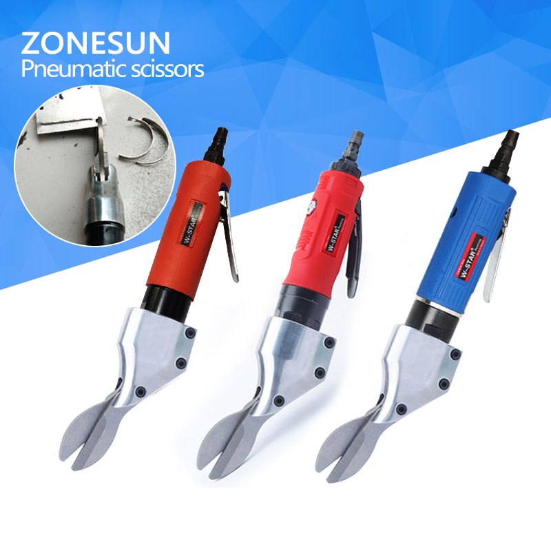 ZONESUN Straight type pneumatic scissors aluminum sheet cut stainless steel plate gas cutting scissor diamond mesh <br>