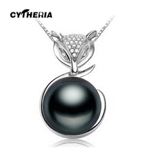 CYTHERIA fox necklace for women bohemia Black natural Pearl Pendant,Natural Freshwater Pearl necklaces & pendants jewelry box