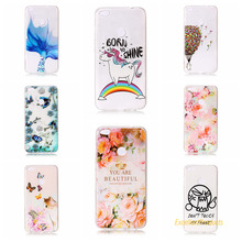 Cover For Huawei P8 Lite 2017 Cases 3D Relief TPU Painted balloon flower leaf butterfly cat Pretty Case Phone Shell