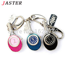 JASTER metal watch usb Flash Drive Pendrive Crystal Tennis Racket Watch Fashion Keychain pendrive 4GB 8GB 16GB 32GB
