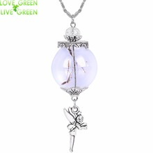 angel wings girl glass cover bottle hope Statement Necklace DIY hand made necklace fashion Jewelry 3567