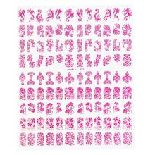 108pcs 3D Silver Flower Nail Art Stickers Decals Stamping DIY Decoration Tools(China)