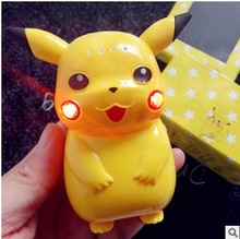 2016 hot selling cartoon 10000mah power bank  super Pikachu pokemon portable battery With LED Light