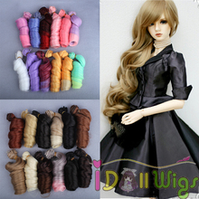 15*100cm Big Roma Curly Heat Resistant Synthitic Hair Weft for DIY Doll Wig 10pcs/lot