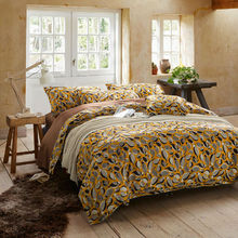 cartoon cute birds pattern bedding sets yellow linens Egyptian cotton Queen/Full/Double/King size duvet cover set(China)