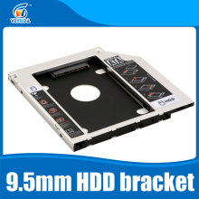 "Universal 2nd 9.5mm Aluminum HDD Caddy SATA 3.0 for 2.5"" SSD Case HDD Enclosure for Notebook CD-ROM hard drive bracket"