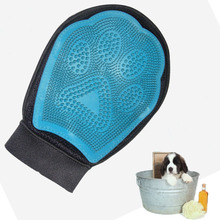 Dog hair and fur remover mitt bath wash grooming glove brush dogs cleaning massage comb for long short pets
