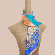 New four color paisley colorful silk scarf 100% real natural silk shawl big size silk stole