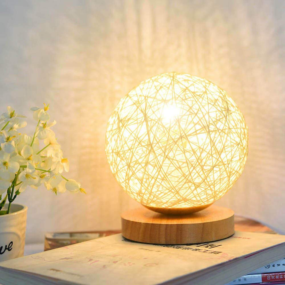 Acheter Lampe déco fibre naturelle blanche | OkO OkO