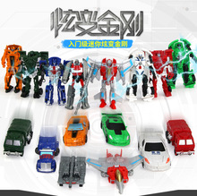 Hot Sale 10cm NEW Arrival Mini Classic Transformation Plastic Robot Cars Action Toy Figures Kids Education Toy Gifts Wholesale