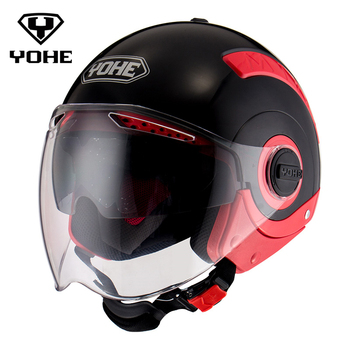 YOHE Motocross Casque ABS Moto Croix Unisexe Casco Capacet Moto Casque Mode Moitié Du Visage Casque Moto