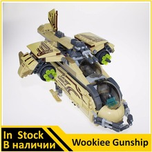 Building Blocks 10377 Compatible with Space Wars Figures Wookiee Gunship 75084 Model Educational Toys for Children(China)