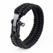 Outdoor Multifuctional Bracelet Men Paracord Survival Bracelets Camping Rope Compass Wrap Bracelets For Women Dropshipping