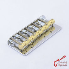1 Set Chrome Wilkinson WBBC Five 5 Strings Electric Bass Bridge With Brass Saddles For Precision Jazz ( #1140 )
