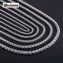 Never Fade Size 3mm/4mm/5mm/6mm/7mm/8mm Stainless Steel Chain Necklace Waterproof Men Gift Link Jewelry Various Length NK002(China)