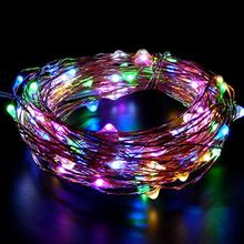 The new led solar copper string lights 15 lights solar decorative lamp no heat generation and durable