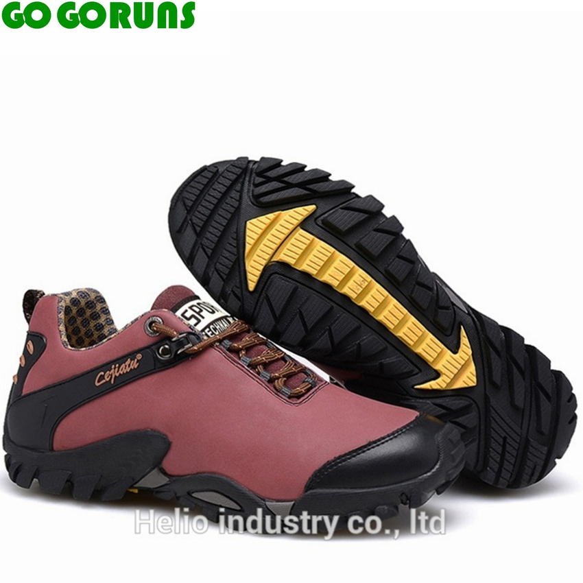 outdoor sport genuine leather hiking shoes women waterproof hunting trekking outventure trail women sneakers shoes boots h4805<br><br>Aliexpress