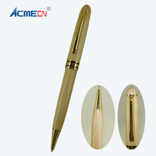 ACMECN Hot Sale Classic Design Office Stationery MB style Famous Brand Ball pens Natural Eco-friendly Maple Wooden Pen Ballpoint