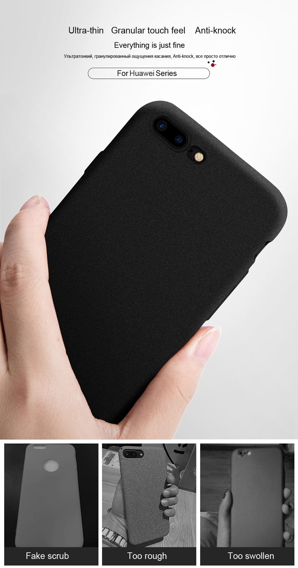 LECAYEE For Huawei Honor A7 Pro Phone Cases for Honor 8 9 10 Lite 7X 6C Pro 5A 6X View 10 Case Cover Matte Touch Soft TPU Bumper (9)