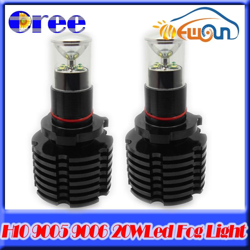 Auto Car H10/9145/9005/HB3/9006 Hb4 LED Fog Light Lamp Bulb High power 20w1000lM Daylight Running Light Headlight Bulb DRL White<br>