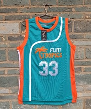 LIANZEXIN NO.33 Jackie Moon Flint tropical semi-professional basketball movie throwback jerseys green color for sale by E-packet