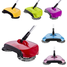 New Hand Push Sweeping Machine Stainless Steel Magic Broom Dustpan Handle Household Cleaning Hard Floor Sweeper Cleaner Tool(China)
