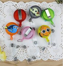 10PCS Mini Cartoon Retractable Badge Reel Student / Nurse / Bank Staff ID Card Badge Holder Office Supplies