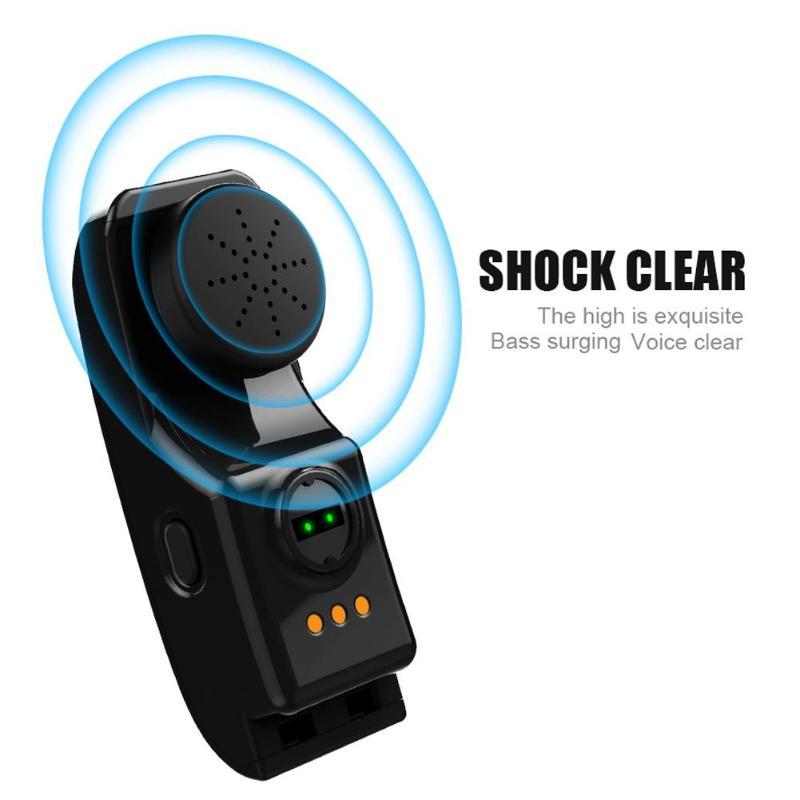 ALLOYSEED Bluetooth Smart Bracelet Watch Handsfree Call Music Player Sport Wristband Headset Fitness Tracker Heart Rate Monitor 12