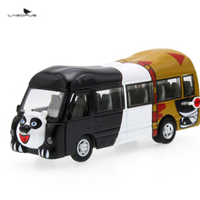 lagopus 1:32 Bear Cartoon Bus Zinc Alloy Pull Back Car Toy Sound and Light Door Can Open Cute Animal Toy Car Model Gift for Kids(China)