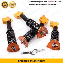 Coilover for Subaru Impreza 02-07 WRX 04 STI GDA GDB Saab 9-2X Adjustable Shock Absorber Coil 24-Way Drift Racing Suspension
