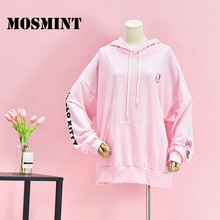 MOSMINT Hello Kitty Cat Character Print Pullover and Hoodie Sweatshirts Women 2017 Autumn Kawaii Cartoon Shirts Lady Loose Tops