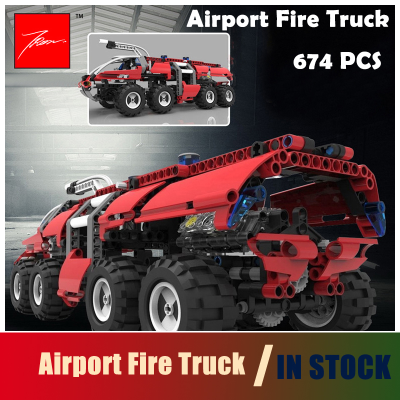 Compatible with lego Technic 20042 674Pcs Model Building Blocks toys The Airport Fire Truck Series Educational DIY toys hobbies<br>