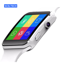 SCELTECH HD Wearable Devices Smart Watch X6 With SIM TF Card Slot Connect Android Xiaomi Samsung Phone Health Smartwatch Android
