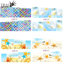 Tracy Simple Nail 1pcs Summer Beach Starfish Designs Nail Water Transfer Decals Art Manicure Sticker Decoration Tool TRBN161-164