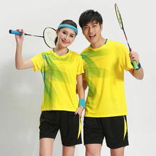 Women / Men Badminton Jersey Breathable Badminton Uniforms Table Tennis Clothes Team Game Sports Jerseys T Shirts & Shorts Set(China)