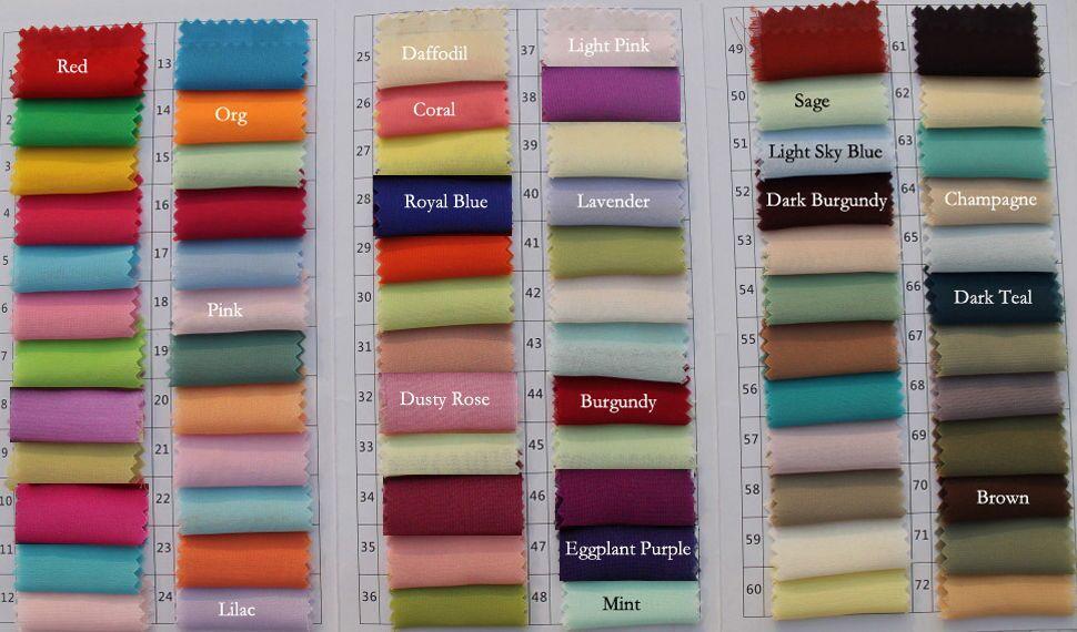 Chiffon Color Chart A