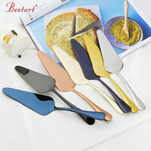 9.25'' 304 Stainless Steel Cake Pizza cake Shovel Knife 7 Color Butter Knife Bakeware Cake Spatula Tool baking & pastry spatulas(China)