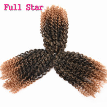 Full Star 3 set 90g Marly Braid hairstyle Pre Loop Jerry Curl for Black Women Synthetic Hair Crochet Bahamas Curl hair extension(China)